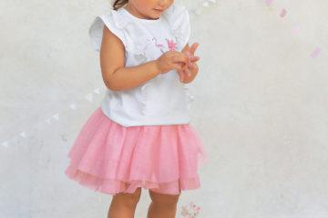 Festlicher Tüllrock für Baby Mädchen hellrosa