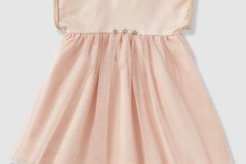 Festliches Babykleid aus Satin und Tüll zartrosa