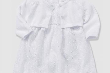 Festliches Babyset für Mädchen weiß