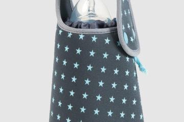 Flaschenwärmer von Babymoov ohne Strom grau/sterne Bebe