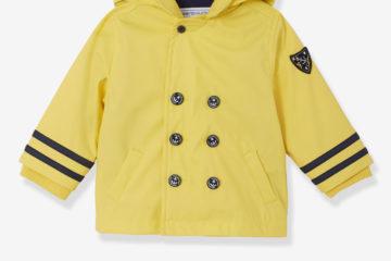 Gefütterte Regenjacke für Baby Jungen gelb