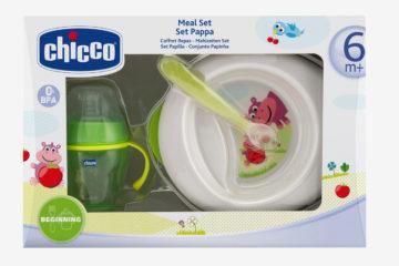 Geschirrset von Chicco für Babys weiß/grün