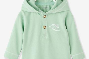Kapuzenshirt für Baby Jungen grün
