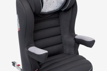 Kindersitz ´´Juniorsit+ Easyfix´´ Gr. 2/3 anthrazit/sterne von vertbaudet