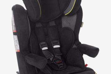 Kindersitz ´´Kidsit+ Isofix´´ Gr. 1/2/3 anthrazit/velours von vertbaudet