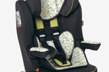 Kindersitz ´´Kidsit+ Isofix´´ Gr. 1/2/3 grün bedruckt von vertbaudet