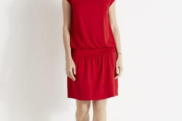 Kleid für Schwangerschaft und Stillzeit rot