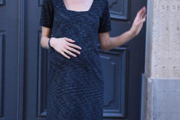 Kleid für die Schwangerschaft schwarz