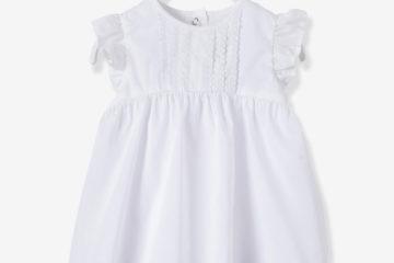 Kleid mit integrierter Babyhose weiß