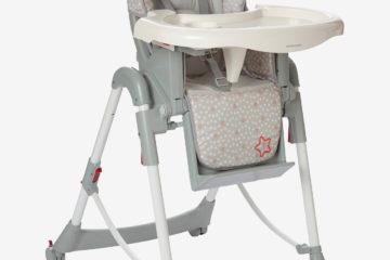 Kombi-Kinderstuhl ´´MagicSeat´´ grau/sterne von vertbaudet