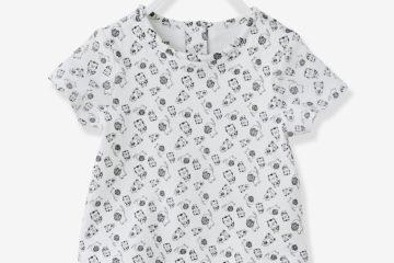 Kurzärmeliger Shirtbody für Babys bedruckt