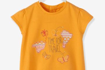 Kurzärmeliges Shirt für Baby Mädchen hellorange