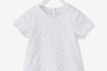 Kurzarm Shirtbody für Babys weiß bedruckt