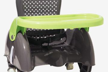 Mitwachsende Sitzerhöhung von vertbaudet grau getupft