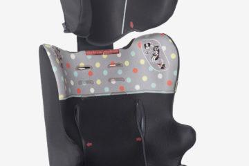 Mitwachsender Auto-Kindersitz Gruppe 1/2/3 anthrazit/tupfen von vertbaudet