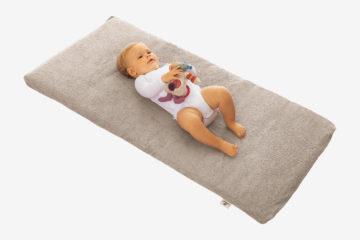 Reise-Babymatratze grau von vertbaudet