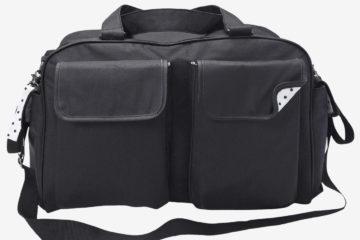 Reisetasche mit Wickelzubehör schwarz von vertbaudet