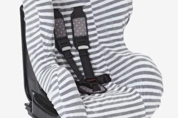 Schonbezug für Babyschale +/1 grau gestreift von vertbaudet