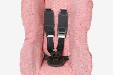 Schonbezug für Babyschale +/1 rosa von vertbaudet