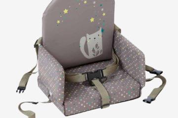 Sitzerhöhung für Kleinkinder taupe bedruckt von vertbaudet