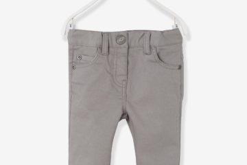 Slim-Fit-Hose für Baby Mädchen grau