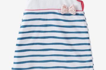 Sommer-Schlafsack in Wickelform weiß gestreift Größe 85Cm von vertbaudet