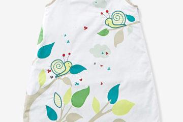 Sommerschlafsack ´´freunde´´ mit Schnecke weiß/schnecken Größe 85Cm von vertbaudet