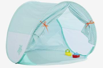 Strandmuschel mit UV-Schutz aqua