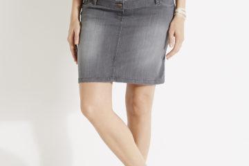 Stretch-Jeansrock für Schwangere grau