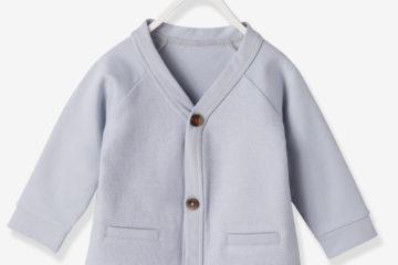 Sweat-Jacke für Baby Jungen perlgrau
