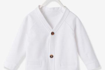 Sweat-Jacke für Baby Jungen wollweiß