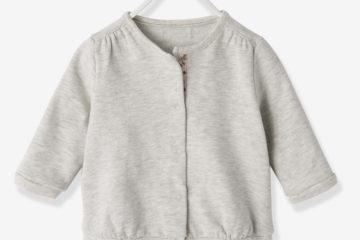 Sweatjacke für Baby Mädchen grau meliert