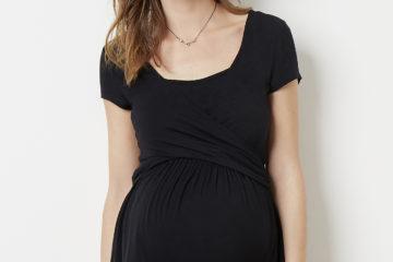T-Shirt für Schwangerschaft und Stillzeit schwarz
