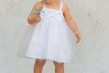 Trägerkleid für Baby Mädchen weiß