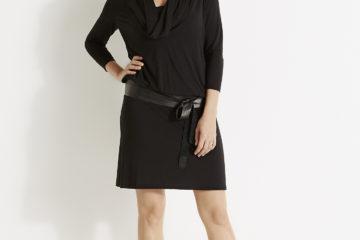 Umstands-Kleid für Schwangerschaft & Stillzeit schwarz