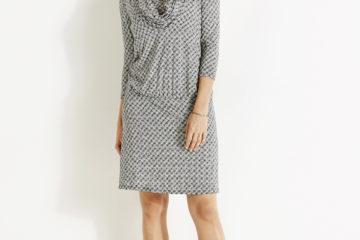 Umstands-Kleid für Schwangerschaft & Stillzeit weiß bedruckt