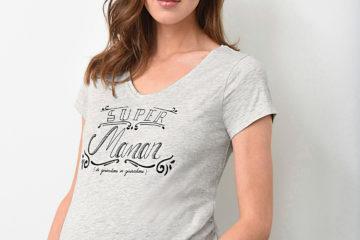 Umstands-Shirt grau meliert