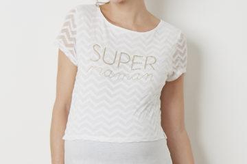 Umstands-Shirt mit Aufschrift weiß