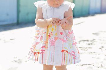 Volant-Kleid für Baby Mädchen bedruckt