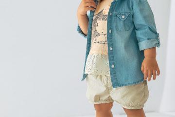 Volant Shirt für Baby Mädchen hellbeige
