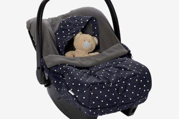 Warmer Fußsack für Babyschalen mit Sternen schwarz sterne von vertbaudet