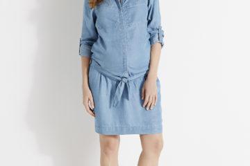 Weich fließendes Schwangerschafts-Kleid double stone