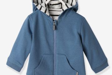 Wende-Cardigan für Baby Jungen gestreift/blau