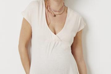Wickel-Shirt für die Schwangerschaft beigerosa