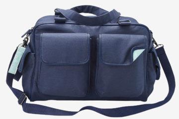 Wickeltasche mit vielen Fächern jeansblau von vertbaudet