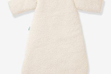 Winterschlafsack aus Webpelz weiß Größe 105Cm von vertbaudet