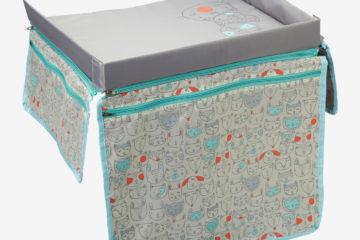 Zusammenklappbarer Reisetisch für Kinder grau bedruckt von vertbaudet