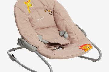 Zusammenlegbare Babywippe ´´Dodinou´´ beige/jungle von vertbaudet