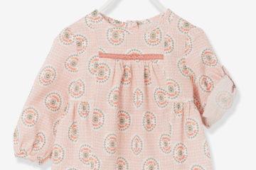 bedruckte Bluse Baby Mädchen koralle bedruckt