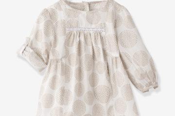 bedruckte Bluse Baby Mädchen wollweiß bedruckt
